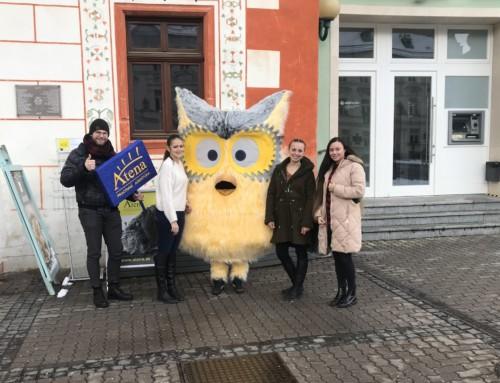 Žltá sova už aj v uliciach mesta